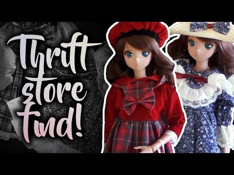 Do Porcelain Doll Clothes Fit BJDs? [Thrift Store Find]