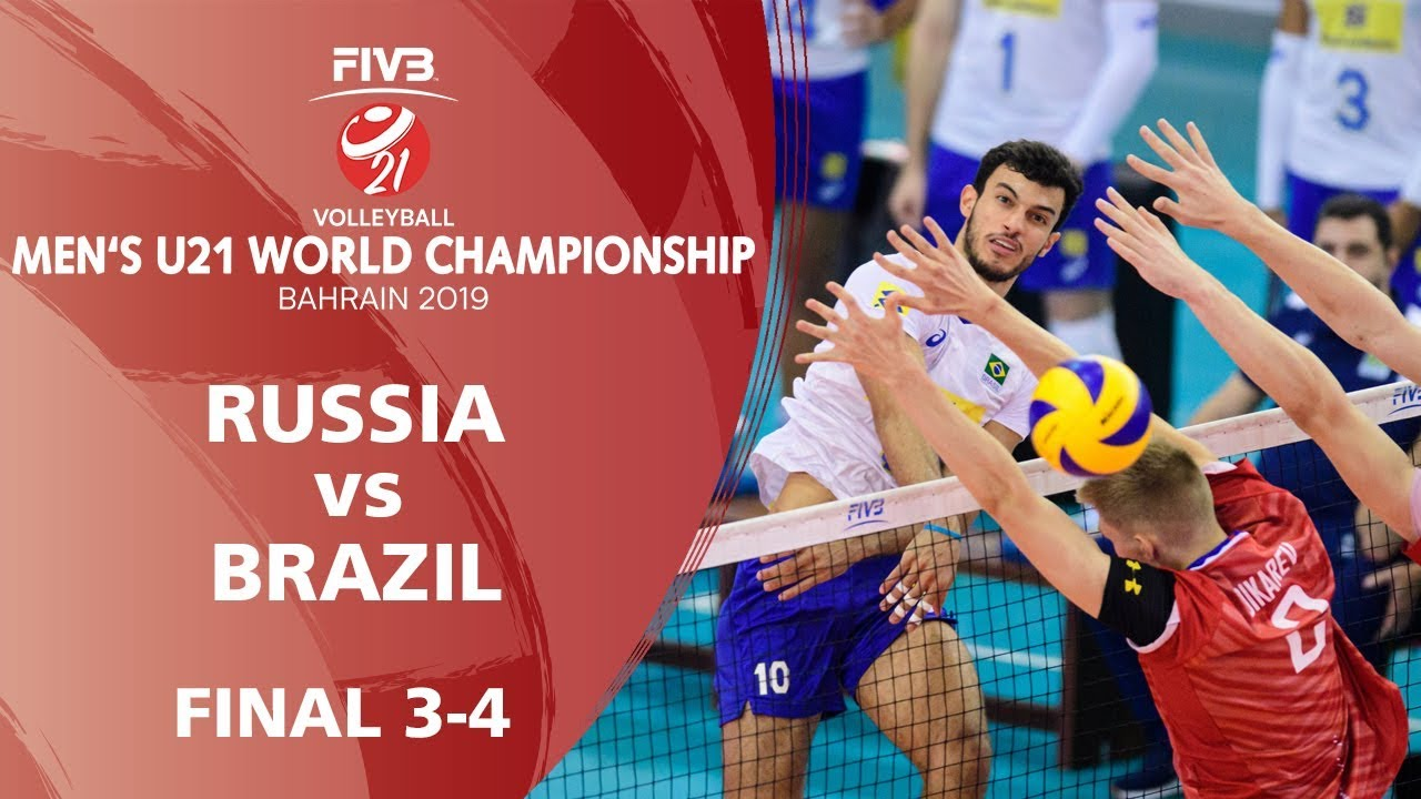 Russia Vs Brazil Full Match Men S U21 World Championships 2019 Bahrain Youtube