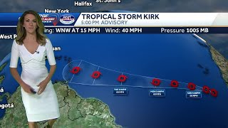 Tropical Storm Kirk, Isolated storms possible