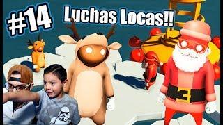 Luchas Locas en Navidad | Gang Beasts 14 | Juegos Karim Juega