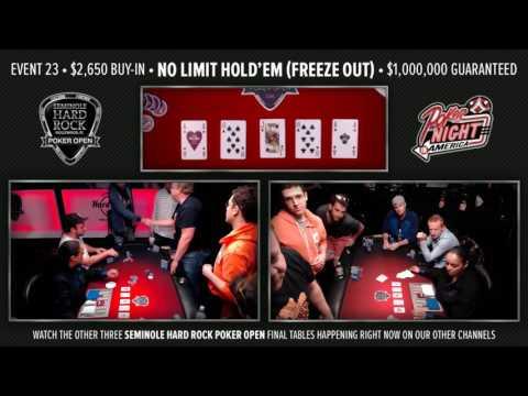 The Big 4  Live Stream  081616  SHRPO $2,650 Freeze Out  Seminole Hard Rock  Hollywood, FL