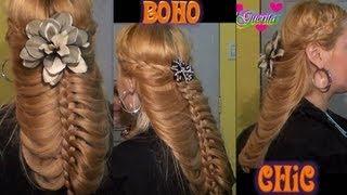 Peinado Para Boda Boho Chic Romantico SemiRecogido para pelo largo y mediano  hairstyles