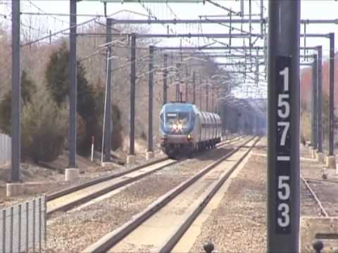 The Acela 150mph through Kingston, Rhode Island