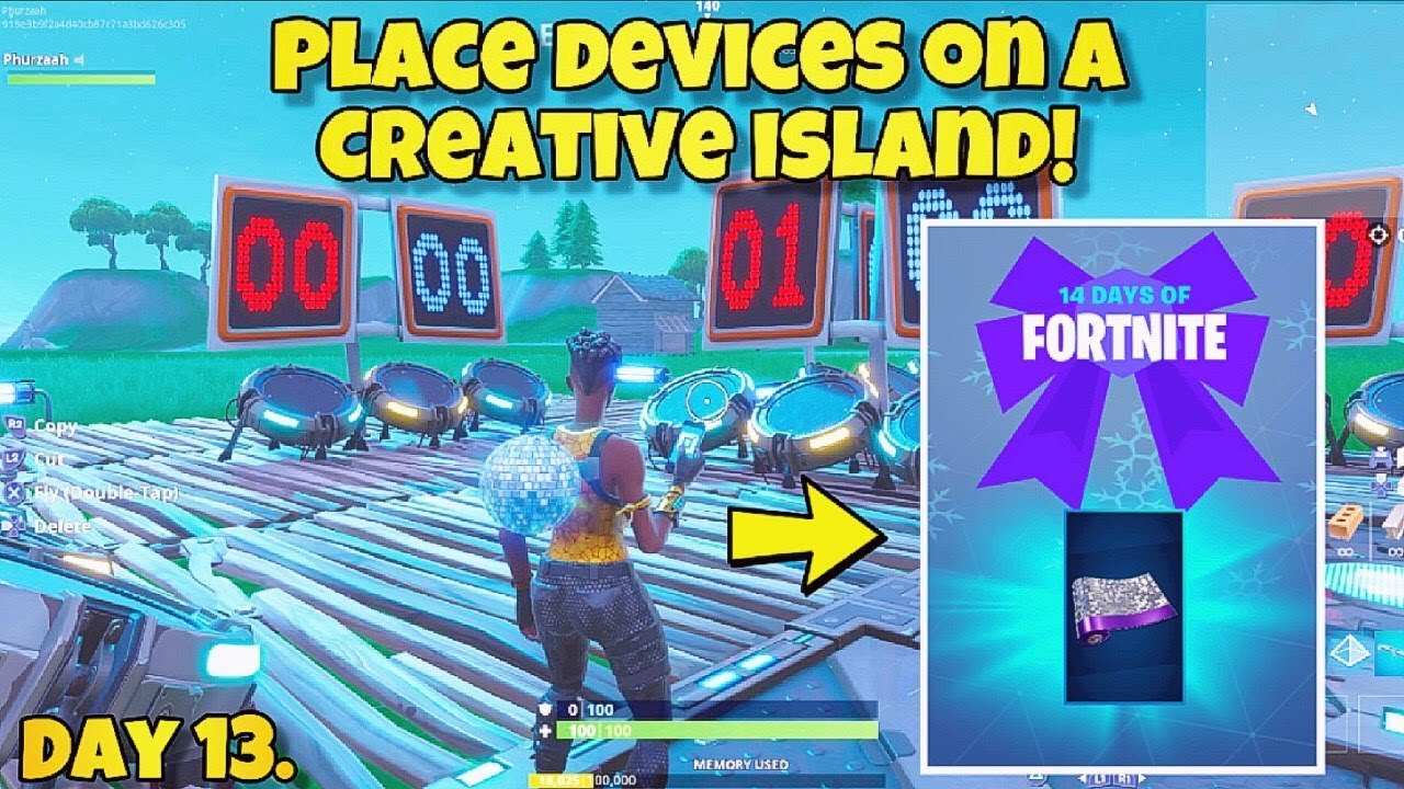 14 Days Of Fortnite Day 13 Place Devices On A Creative Island