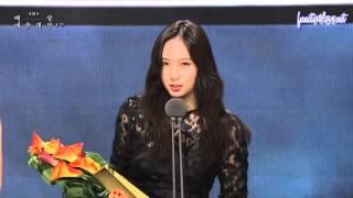 [ENG SUB] 150526 Krystal - Baeksang Awards Popularity Award Acceptance Speech