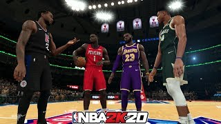 Zion, LeBron, Giannis and Kawhi in a Dunk Contest! NBA 2K20