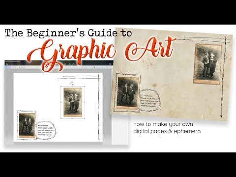 THE BEGINNER'S GUIDE TO GRAPHIC ART - TUTORIAL - HOW TO MAKE DIGITAL PAGES & KITS with FREE SOFTWARE thumbnail