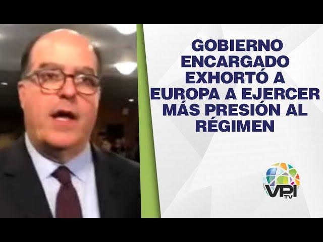 Nueva York - Gobierno encargado exhortó a Europa a ejercer más presión al régimen - VPItv
