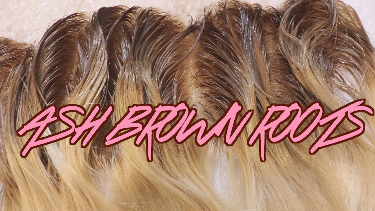 DIY ASH BROWN ROOTS ON BLONDE HAIRFRONTAL Ft Westkiss