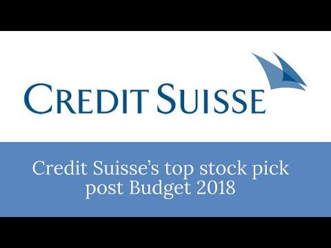 Credit Suisse's top stock pick post Budget 2018