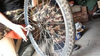 Жөндеу велосипедтің. Ауыстыру осі артқы доңғалақтар