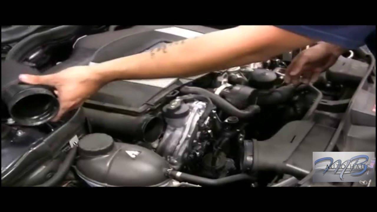 Mb autohaus mercedes benz engine air filter replaced doovi for Mercedes benz e350 air filter replacement