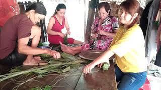 Cách gói bánh tét truyền thống của người miền tây #28| Phung Nguyen Family Cuộc Sống Việt
