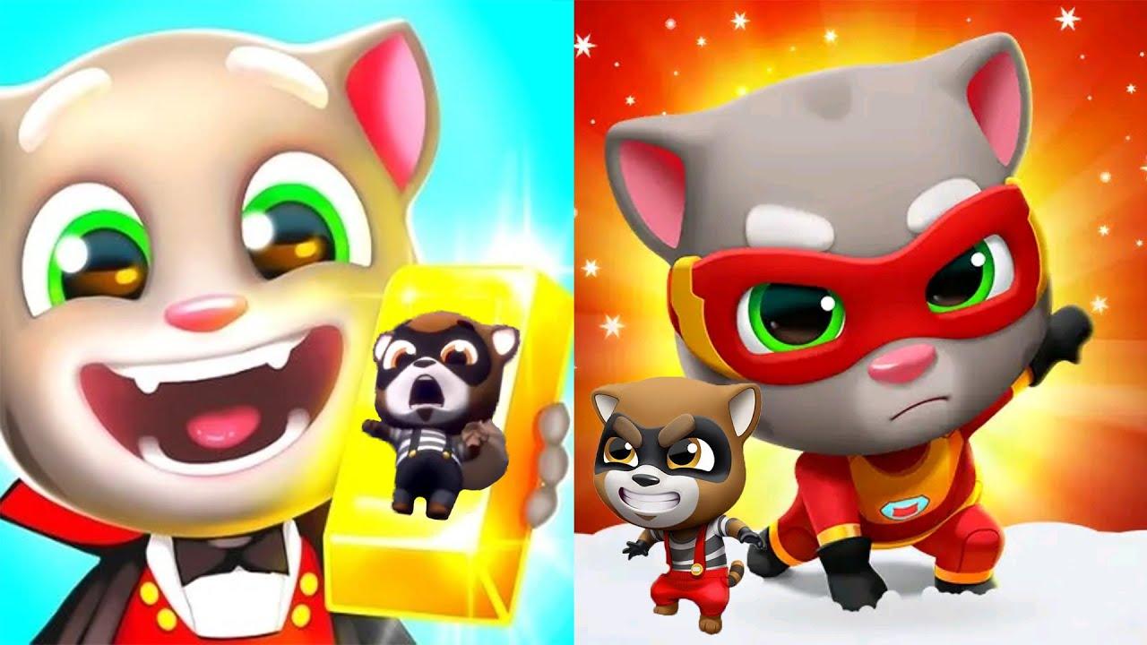 Talking Tom Gold Run VS Talking Tom Hero Dash   iPad Gameplay 2021