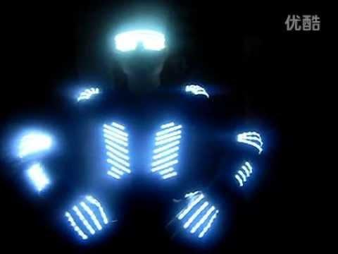 84336ffe4cd8d LED ropa luminosa ropa remoto inalámbrico de gran alcance - YouTube