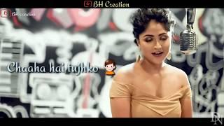 💞Chaaha Hai Tujhko  💞 |cover Song | Lyrics Whatsapp Status Video |Debolinaa Nandy |BH Creation
