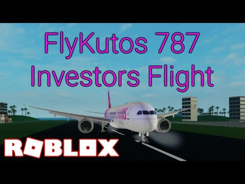 FlyKutos 787 Investors Class - Roblox Airline Review [NO MUSIC]