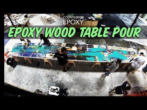 Epoxy Wood Table Pour