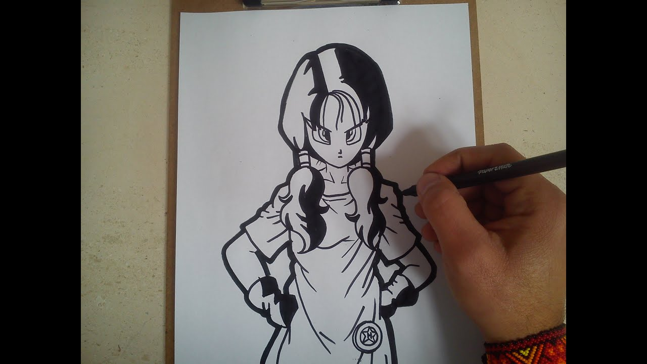 Como dibujar a Videl de dragon ball z  how to draw dragon ball z