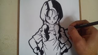 Como dibujar a Videl de dragon ball z / how to draw dragon ball z Videl