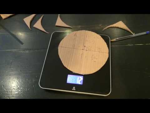 Calculating Pi by weighing circle and square