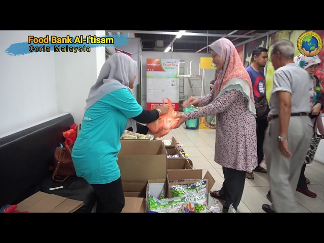 FOOD BANK AL-I'TISAM: FOOD DONATION DRIVE (FDD 4) AT PASARAYA IKHWAN 28/9/2019
