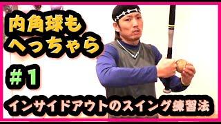【ホームランが打てる】インサイドアウトのスイング練習法 #1  【初級編】