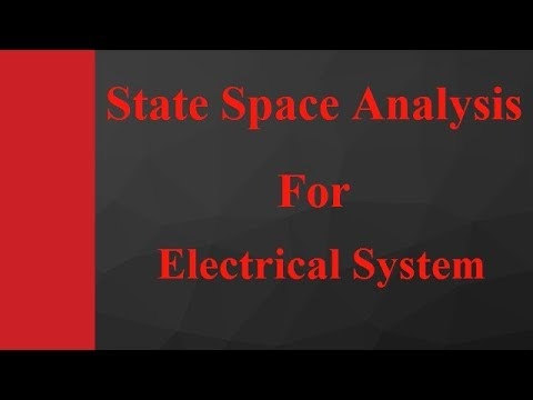 State Space Analysis for Electrical System in Control Engineering by Engineering Funda