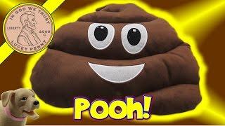 Plush Moji Stuffed Mini Pillows - Giant Pooh & Moji Fun!