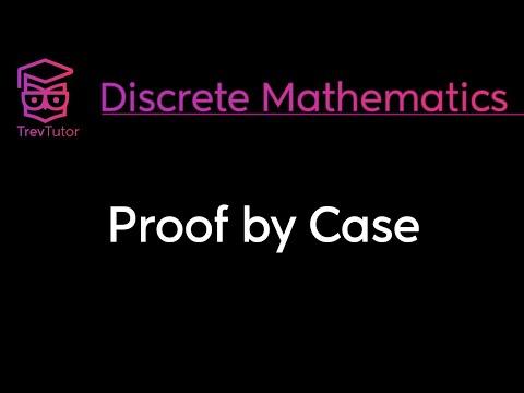 [Discrete Math 1] Proof by Case