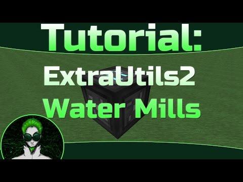 Tutorial: Extra Utilities 2 Water Mill - Best Layout, Optimum Design, Easy Grid Power #SkyFactory3