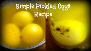 Simple Pickled Eggs Recipe | By Victoria Paikin