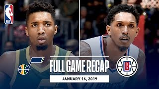 Full Game Recap: Jazz vs Clippers | Donovan Mitchell Leads All Scorers In LA