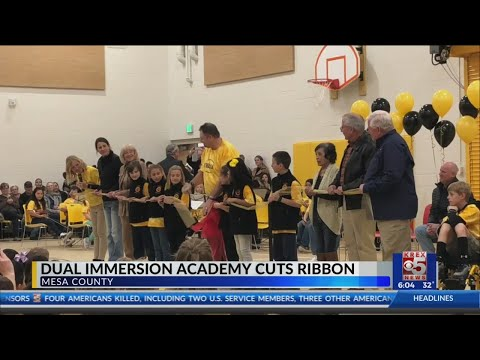 Dual Immersion Academy Cuts Ribbon