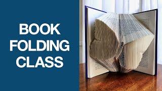 Book Folding Art Class    Master The Basics Of Book Folding