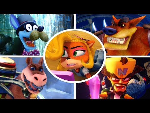 Crash Bandicoot - All Bosses with Coco (N. Sane Trilogy)
