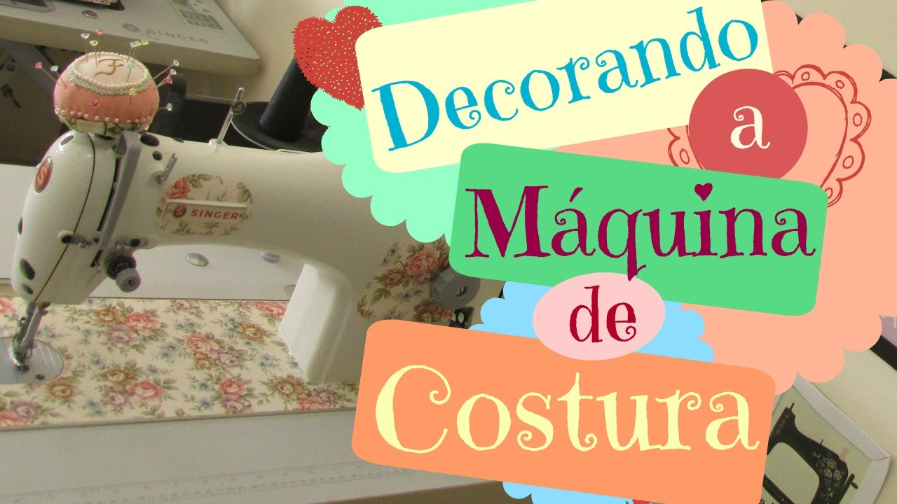 Como Decorar Maquina De Costura Contact Estampado Youtube