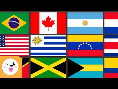 las-banderas-de-américa-para-niños---geografía-para-niños
