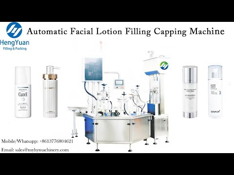 Automatic Facial Lotion Filling Pump Capping Machine   Rotating Disc Type Filling Dispenser