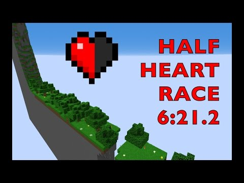 [ World Record ] Minecraft - Half Heart Race Map Speedrun (6:21.2)