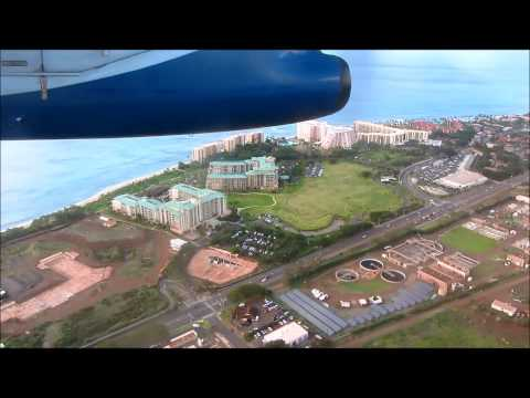 Landing at West Maui Kapalua Airport JHM view from the air