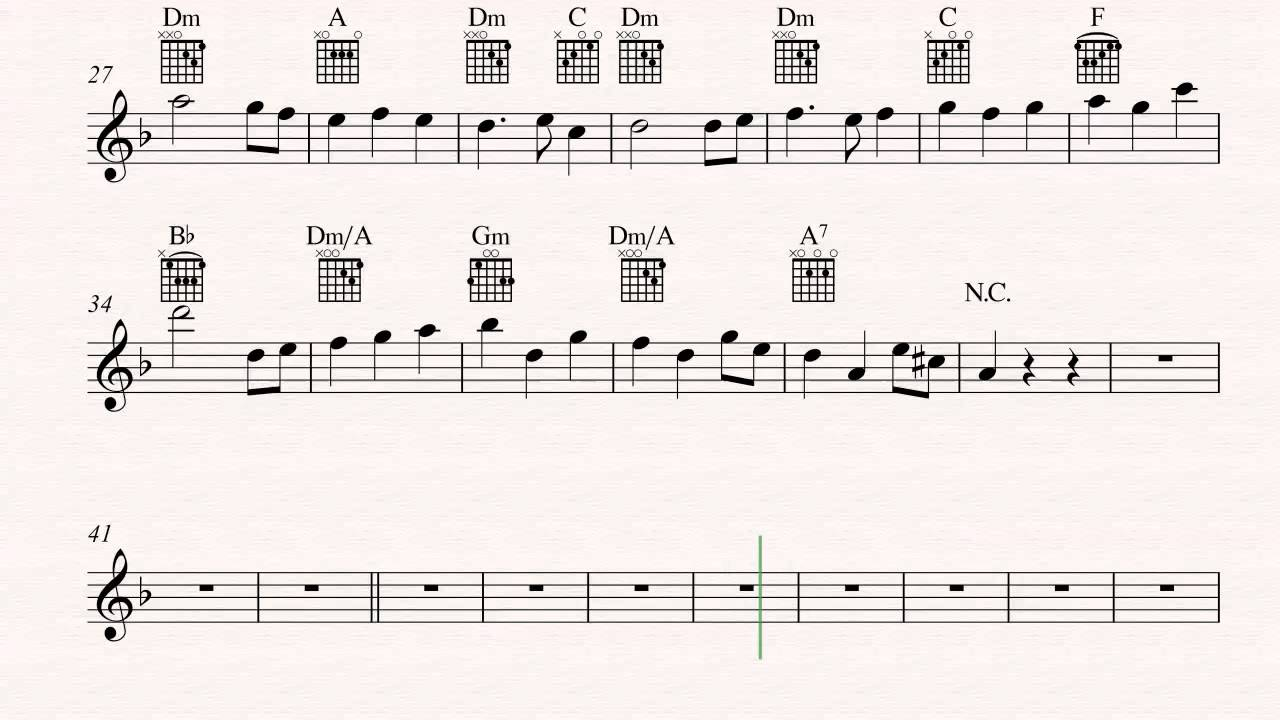Guitar Theme Song Pirates Of The Caribbean Sheet Music Chords
