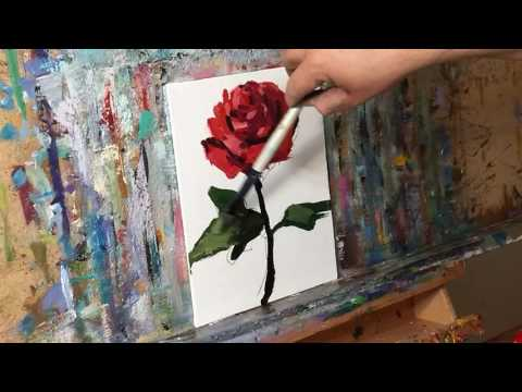 How To Paint A Rose Tutorial - Impressionist Style - by Artist JOSE TRUJILLO