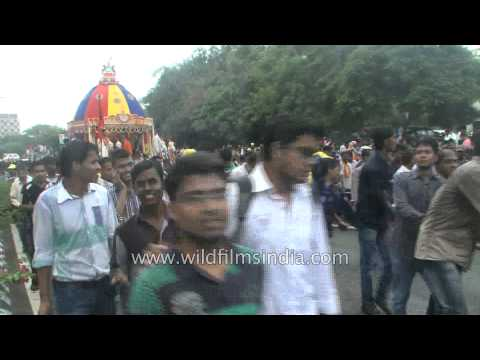 Large number of Hindu devotees participated in the annual Rath Yatra of God Jagannatha