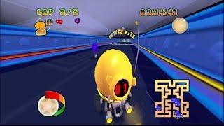 [60FPS] Pac-Man World Rally HD (GCN): Retro Maze (Widescreen 720pHD)