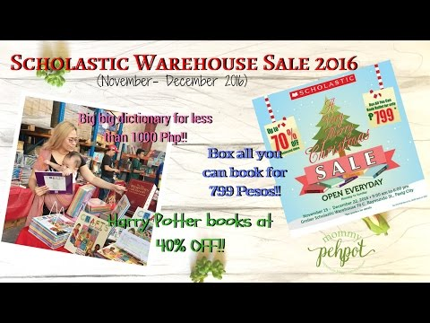 Scholastic Warehouse Sale Nov Dec 2016 Preview