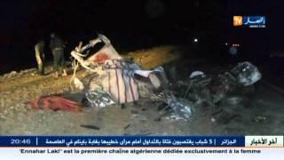 الوادي : حادث مرور مروع يخلف 5 قتلى وجريحين على مستوى الطريق الوطني رقم 48