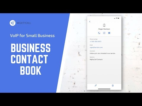Business Contact Book. VoIP Feature | MightyCall