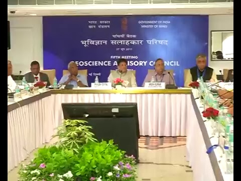 Speaking at 5th Geoscience Advisory Council Meeting, New Delhi