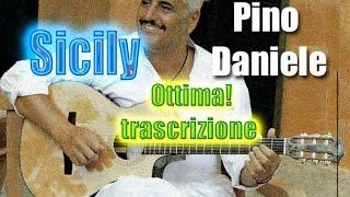 Pino Daniele Sicily spartito trascrizione chitarra Pdf TAB